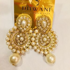 New Fancy Earrings with pearls and stones